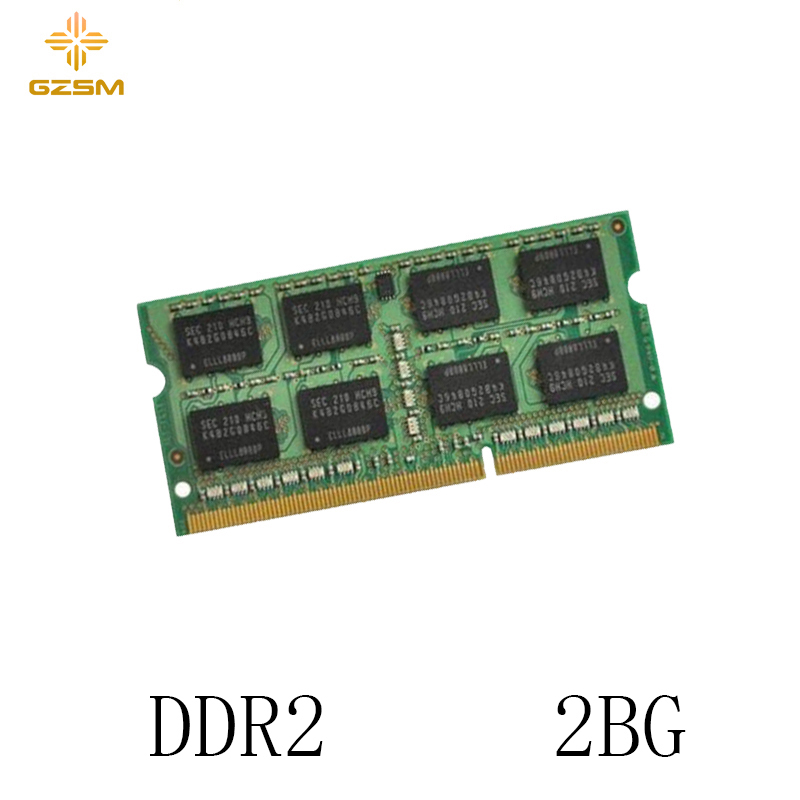 GZSM Laptop Memory <font><b>DDR2</b></font> 2GB for PC2 4200 5300 6400 8500 Memory Cards 533MHZ 667MHZ 800MHZ <font><b>1066MHZ</b></font> Memory RAM 200pin 1.8V image