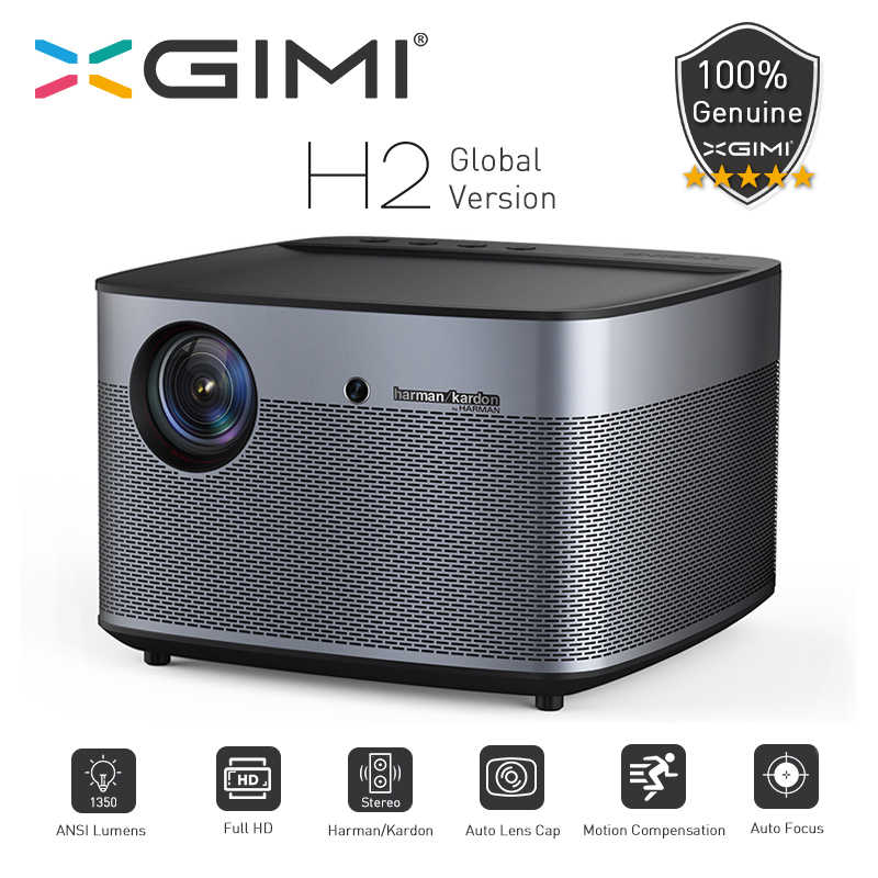 XGIMI H2 Versi Global DLP Proyektor 1080P Full HD 1350 Ansi Lumens 3D Projecteur 4K Android Wifi Home teater Beamer