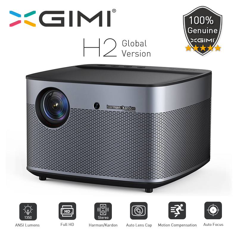 XGIMI H2 Global version DLP Projector 1080P Full HD 1350 Ansi Lumens 3D Projecteur 4K Android Wifi Home Theater Beamer image