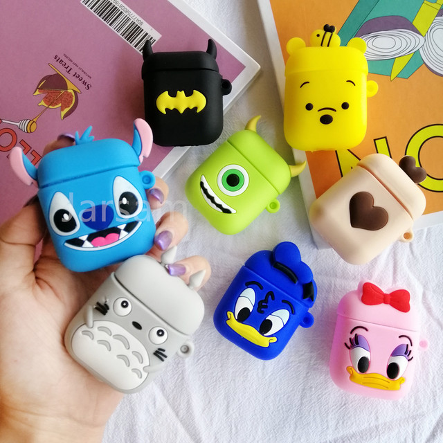 Cartoon Cute Wireless Earphone Case For AirPods 2 Silicone Charging Headphones Case for Air pod cases Protective luxury Cover 4