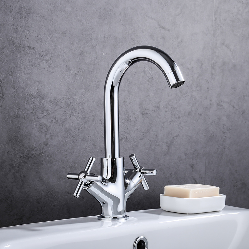 Copper Basin Faucet Hot And Cold Double Handwheel Wash Basin Single Bore Tap Australia Paleo Ware Manufacturers Wholesale