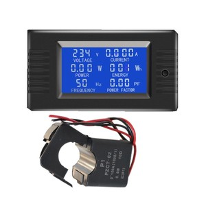 AC 6in1 220V 80V~260V 100A Single Phase Digital Ampermeter Power Energy Voltmeter Ammeter Volt Watt Kwh Factor Meter Split CT(China)