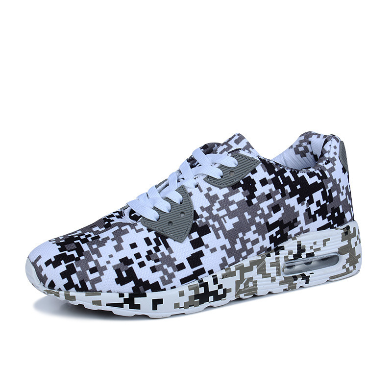 New Jogging Shoes Men And Women Sports Shoes Summer Training Camouflage Sports Shoes Air Cushion Increased Shoes Running Shoes