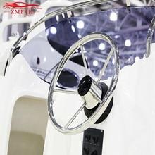 13-1/2 Boat Stainless Steel Steering Wheel 5 Spoke 25 Degree  343mm yacht steering wheels boat accessories for Marine Yacht