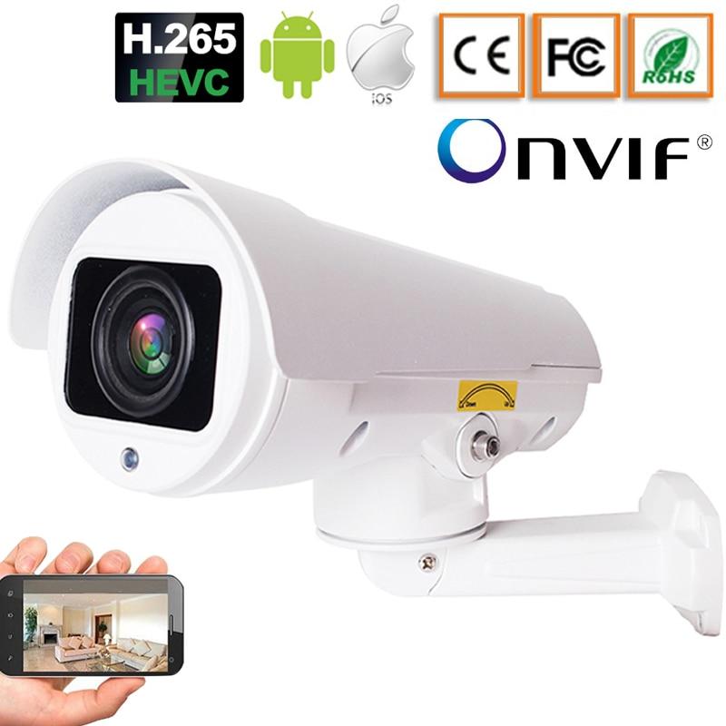 Full HD 5MP 1080P 4X Optical Zoom CCTV Mini Bullet IP Camera Surveillance Outdoor Night IR 100m 2MP