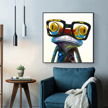 RELIABLI Canvas Painting Animal Print Frog Cartoon Nordic Posters and Prints Wall Pictures for Living Room Home Decor Unframed