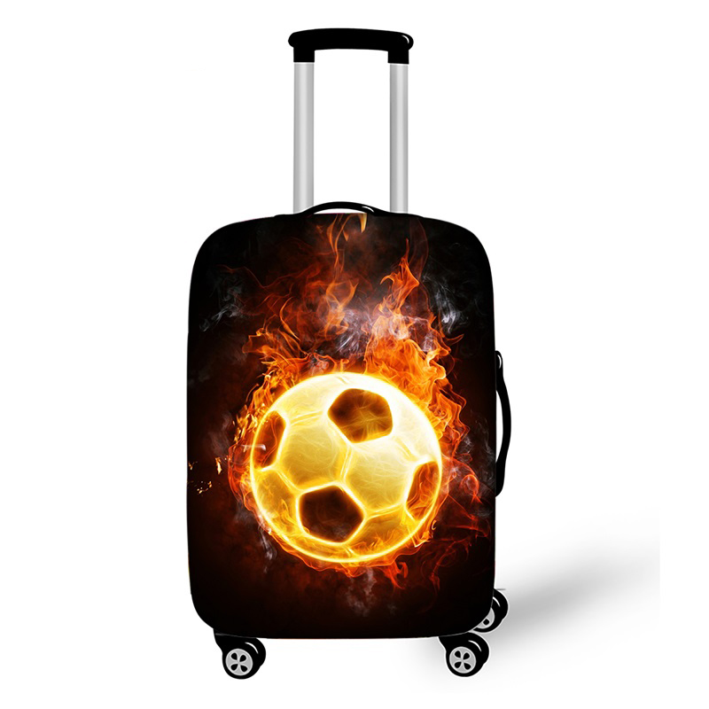 18''-32'' Cool Footbally Elastic Luggage Protective Cover Trolley Suitcase Dust Bag Case Cartoon Soccerly Travel Accessories