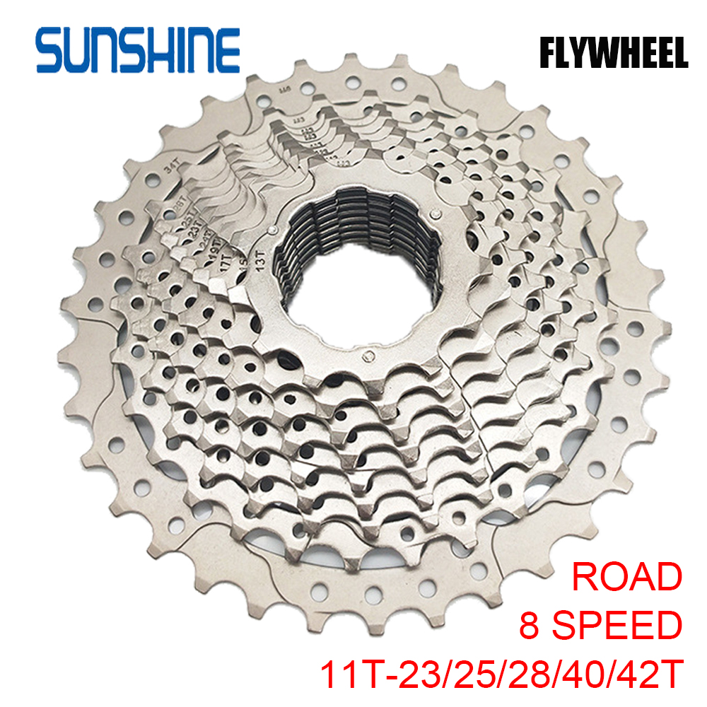 SUNSHINE Cassette Flywheel Road Bike Flywheel Steel 8/9/10/<font><b>11</b></font>/12 Speed <font><b>11</b></font>-23/25/28/<font><b>32</b></font>/40/42T Cassette Freewheel For <font><b>Shimano</b></font> SRAM image