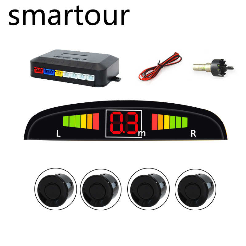 Smartour Parking Location Car Auto Parktronic with 4 Sensor Reverse Ultrasonic Radar Detection Standby Radar Monitoring System