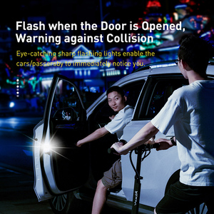 Baseus 2Pcs 6LEDs Safety Warning Light Car Openning Door Anti-collision Flash Lights Wireless Magnetic Alarm Signal Lamp Light