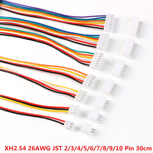 10Sets JST XH2.54 XH 2.54mm Wire Cable Connector 2/3/4/5/6/7/8/9/10 Pin Pitch Male Female Plug Socket 30cm Wire Length 26AWG(China)