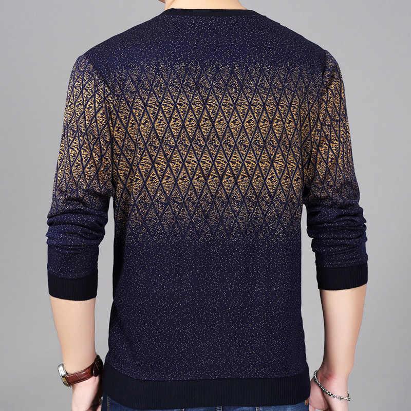 2020 브랜드 뉴 핫 캐주얼 사회 아가일 풀오버 남자 스웨터 셔츠 저지 의류 당겨 스웨터 망 패션 남성 니트 151