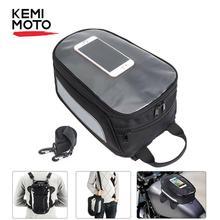 KEMiMOTO мотоцикла, Магнитная сумка для топливного бака мотоцикл седельная сумка для мобильного телефона, для Honda Для Yamaha для Aprilia RSV1000