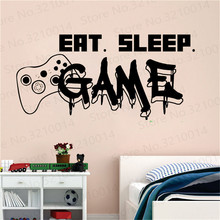 Gamer Wall Decal Eat Sleep Game Controller Video Game Wall Sticker For Bedroom Vinyl Decals Mural Wall Decor Wallpaper PW206 gamer wall decal eat sleep game controller video game wall sticker for bedroom vinyl decals mural wall decor wallpaper pw206