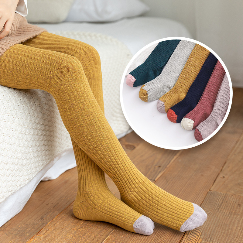Dutiful Kid Girl Tights Baby Stockings Autumn Baby Tights Spring Warm Child Pantyhose Cotton Pants Candycolor Cute Girls Trousers Winter