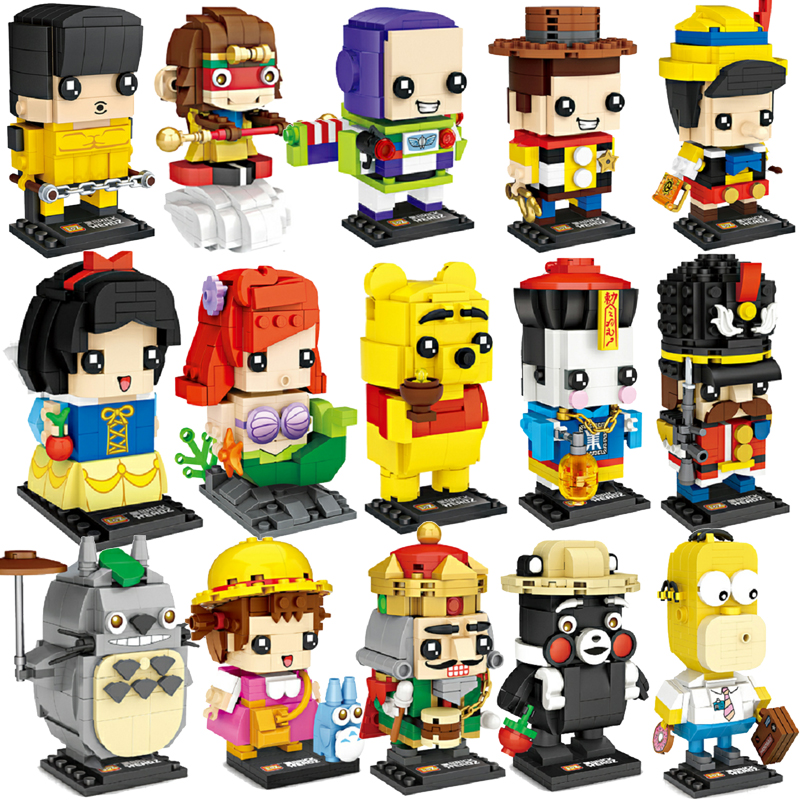 LOZ Cartoon Toy Bruce Lee Story 4 Snow Princess White Model Mini DIY Nano Brickheadz Building Blocks Bricks Toys For Children