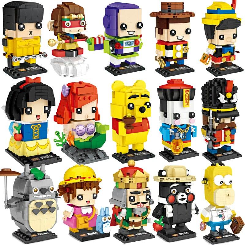 LOZ Cartoon Toy Bruce Lee Story 4 Snow Princess White Model Mini DIY Nano Brickheadz Building Blocks Bricks Toys For Children
