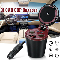 New 3in1 QI Car Wireless Charger In Car Bluetooth Hands Free MP3 Player/Phone To Radio FM Transmitter Modulator +Power cord S30