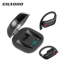 цена на Bluetooth Earphone Stereo Wireless Headphones Earhook Running Sport Bass Headset With Mic For iPhone Xiaomi Huawei Mobile Phone