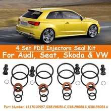 4 комплекта PDE инжекторов для Audi Seat Для Skoda для VW#1417010997 038198051B Сменные аксессуары