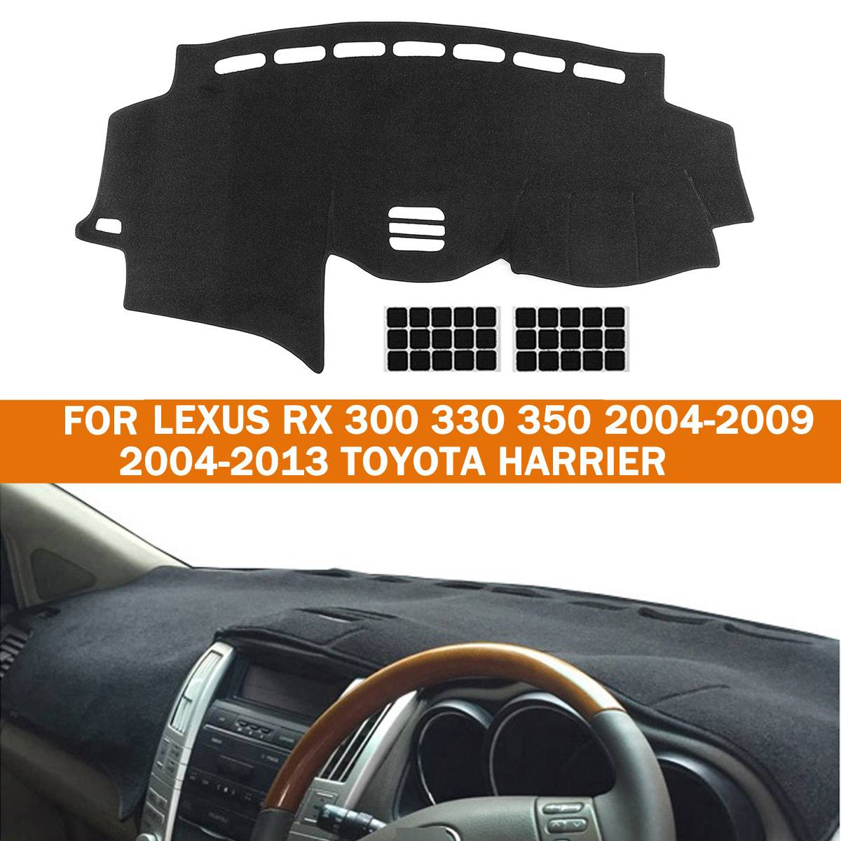 Car Dashmat Dashboard Mat Dash Board Cover Anti Slip Pad For LEXUS RX 300 330 350 2004-2009 For Toyota For Harrier 2004-2013