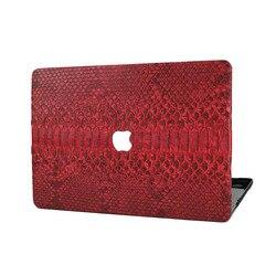 Индивидуальные унисекс роскошный дизайн высокое качество Geniune кожи питона кожаный чехол для Macbook Air Retina Touch bar 13 15 крышка