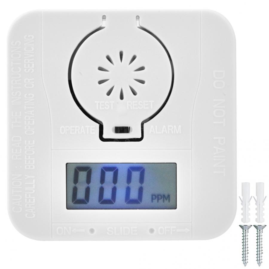Alarm Detectors Gas-Warning-Sensor CO Carbon Monoxide Poison LCD Photoelectric Security title=