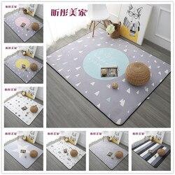120x180 cm estilo nórdico tapetes para sala de estar quarto casa e tapetes mesa café breve área tapete crianças jogar esteira