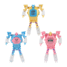Deformation Robot Body Action Trasformation Wristwatch Toy Kids Robot Electronic