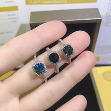 1 Carat Green Moissanite Diamond Multi-function Ring for Women 925 Sterling Silver Fine Wedding Jewelry