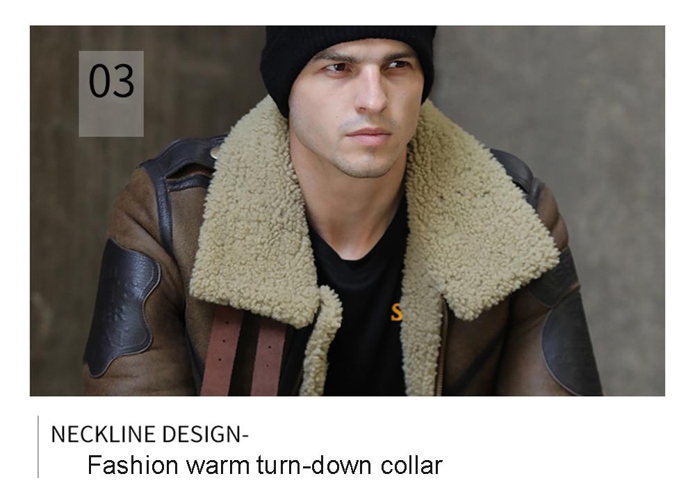 H08ea4785c2dd46dbba8d3cb5bf5a2e4cQ 2019 Fashion 100% Quality Real Sheepskin Fur Men Coat Genuine Full Pelt Sheep Shearling Male Winter Jacket Brown Men Fur Outwear