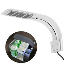 UEETEK Super cienki oświetlenie LED do akwarium rośliny lampa do uprawy roślin kreatywna lampa Clip-on z wtyczką (białe światło) tanie tanio CN (pochodzenie) Klips