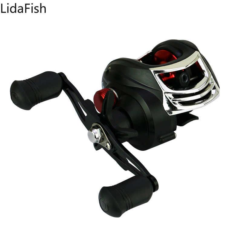8kg Max Drag Fishing Reel 7.2:1 Bait Casting Metal Handle Fishing Spool Wheel