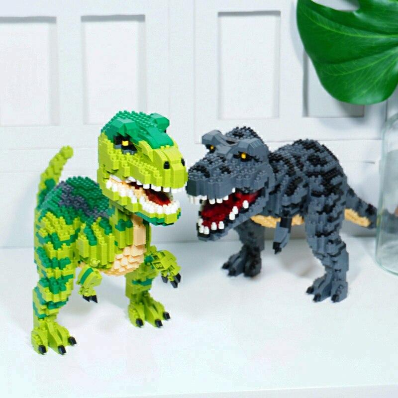 16088 тираннозавр рекс Мини Строительные блоки черный динозавр Brikcs