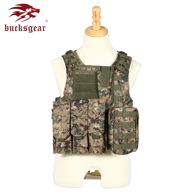 Cross Border Supply Of Goods Safe Protection Outdoor Waistcoat Molle Steel Wire Vest Amphibious Field Operations Camouflage Tact
