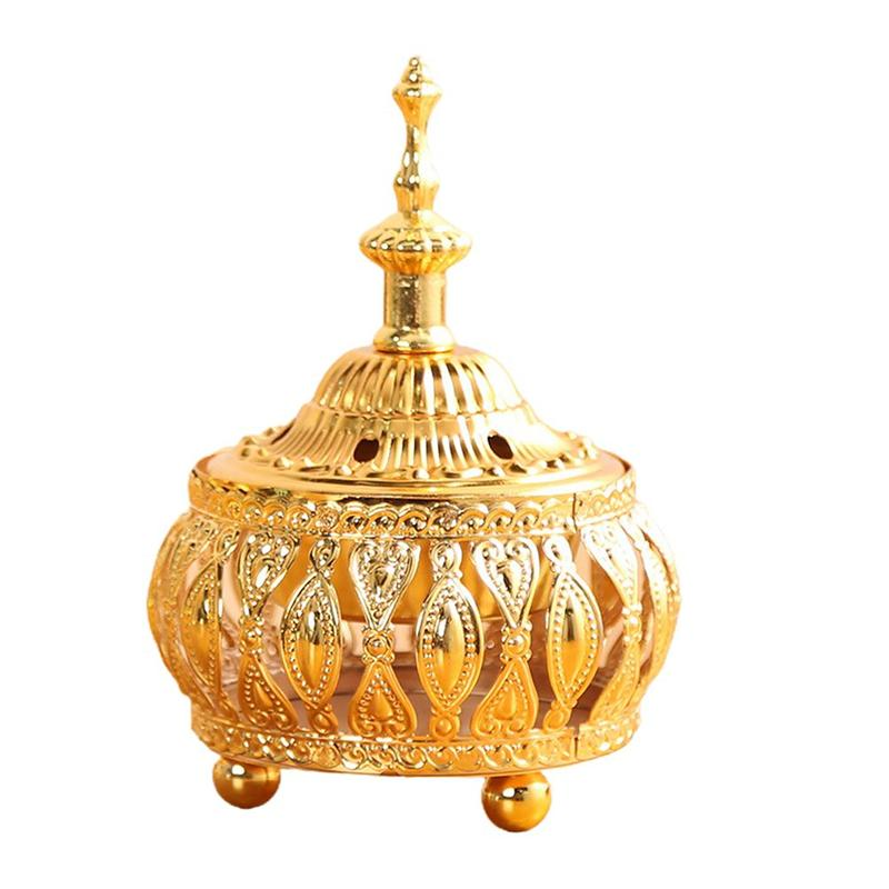 1pc Incense Burner Household Ornament Aromatherapy Furnace Delicate Middle East European Lace Incense Burner for Home Decoration