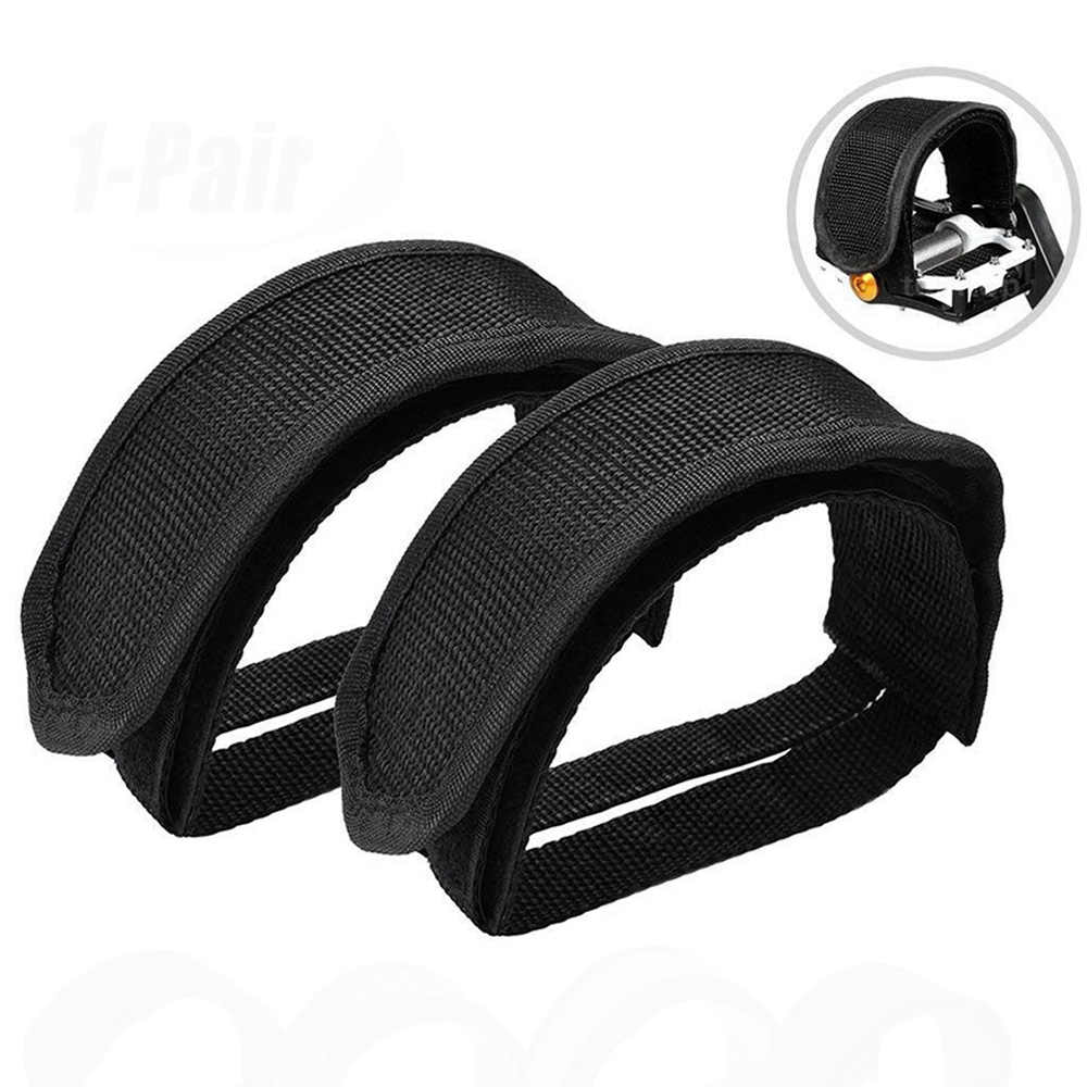 Bike Pedal Straps Adjustable Plastic Anti-slip Toe Clip Belt Pedal Fixed Straps