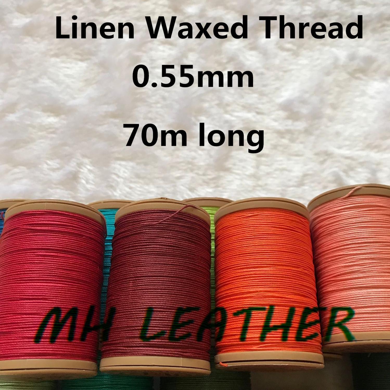 Льняная вощеная нить ML055 для шитья кожи, вощеная нить для шитья кожи