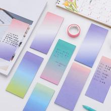 2Pcs Gradient Rainbow Memo Pads Self Adhesive Paper Sticky Notes Kawaii Writing Notepads For Office School Supplies Stationery
