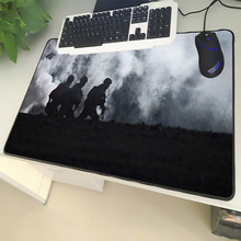 XGZ Army Enthusiasts Large Size Mouse Pad Black Lock Side Military Rescue Survival Laptop PC Desk Mat Rubber Non-slip Universal