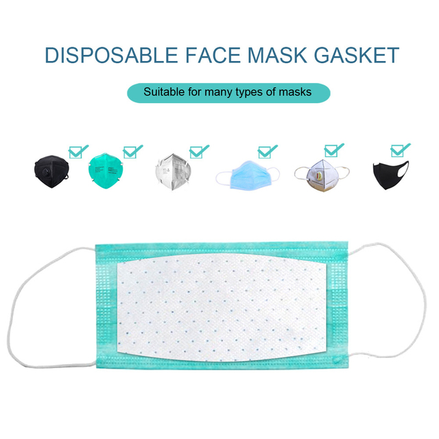 10Pcs Disposable Mask Pad for Mask Replacement Universal Breathable Pad Filter Mat mouth Mask 3