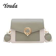 Youda 2019 New Simple Original Leisure Messenger Tote Fashion Sweet Contrast Color Shoulder Bag Retro Classic Literary Packet