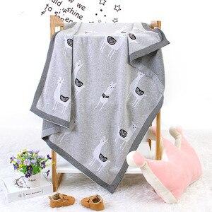 Image 2 - Вязаное одеяло для детской кровати, пеленка из альпаки для новорожденных, мягкое покрывало для младенцев, диван для малышей, постельное белье, одеяло для сна, аксессуары для детской коляски