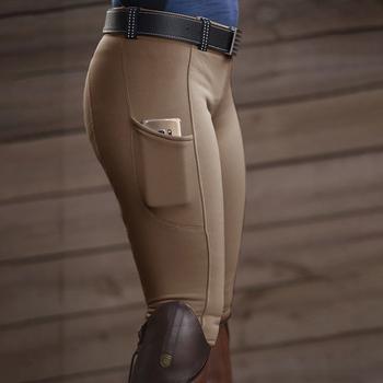 Spodnie sportowe damskie kieszonkowe spodnie biodrowe elastyczne spodnie jeździeckie spodnie wyścigowe damskie spodnie spodnie do wyścigów konnych tanie i dobre opinie Sfit WOMEN Poliester NYLON spandex CN (pochodzenie) Elastyczny pas Women Sport Pant Pasuje prawda na wymiar weź swój normalny rozmiar