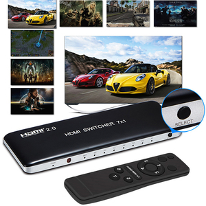 Image 2 - 4K 60HZ HDMI 스위치 7x1 4x1 3x1 HDMI 2.0 스위처 오디오 비디오 컨버터 PS3 PS4 XBOX DVD PC TV HDTV 모니터 또는 프로젝터