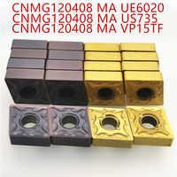 Drehmaschine werkzeug CNMG120404 CNMG120408 VP15TF/UE6020/US735 externe drehen werkzeug Hartmetall einsatz cnmg120404/08 fräsen einfügen MA