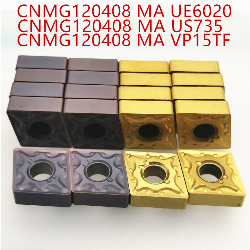 Lathe Tool CNMG120404 CNMG120408 VP15TF / UE6020 / US735 External Turning Tool Carbide Insert Cnmg120404/08 Milling Insert MA