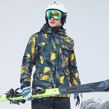 Męska kurtka zimowa nowa zagęścić ciepła kurtka snowboardowa mężczyzna na zewnątrz wodoodporna wiatroszczelna jazda na nartach skuter śnieżny seksowna kurtka tanie i dobre opinie Tringa CN (pochodzenie) Pasuje prawda na wymiar weź swój normalny rozmiar Suknem