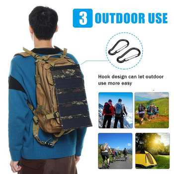30W Foldable Solar Panel 5V Sun power Solar Cells Bank Pack USB 10in1 USB Cable Waterproof for Phone Backpack Camping Hiking 6