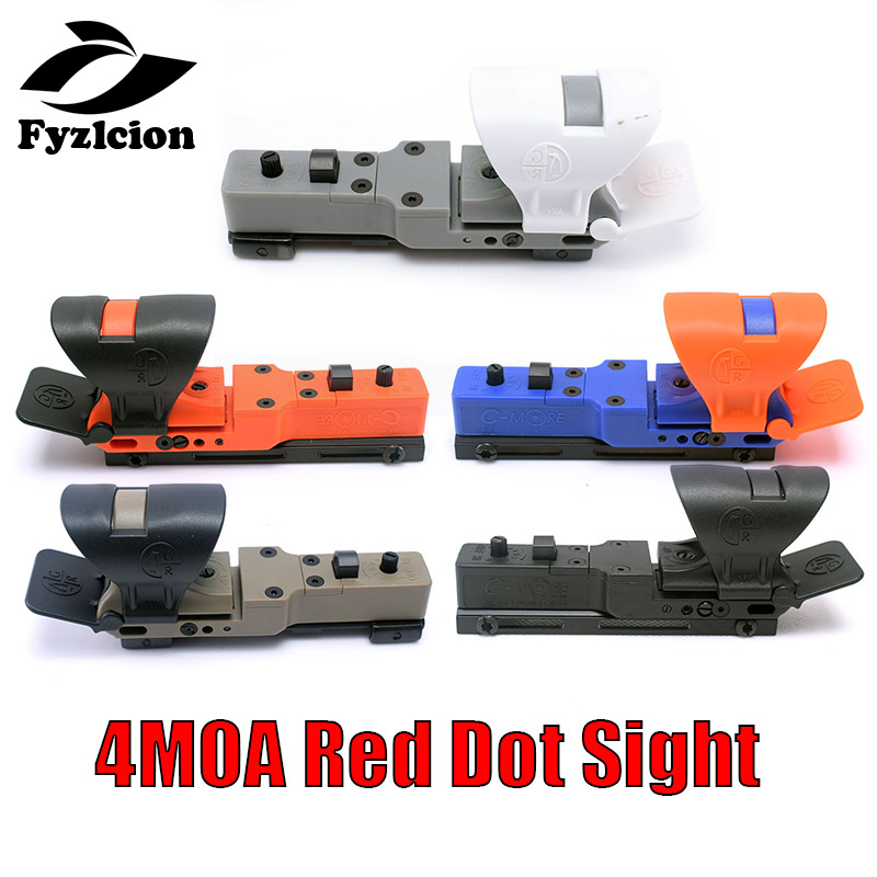 Hunting Airsoft Adjustable 4MOA Red Dot Sight Reflex CMORE Optics Sight IPSC Riflescope With Cover For Shooting